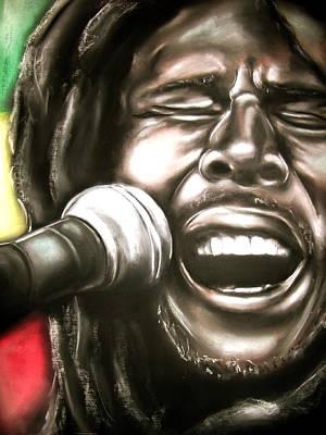 Bob Marley Art Print by Zach Zwagil