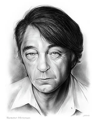 Drawings - Bob Mitchum by Greg Joens