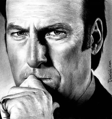 Drawing - Bob Odenkirk As Saul Goodman by Rick Fortson