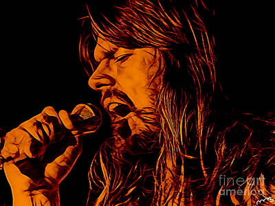 Poster Mixed Media - Bob Seger by Marvin Blaine