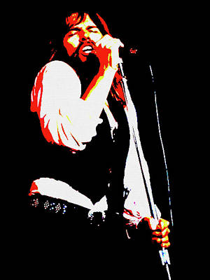 Mixed Media - Bob Seger Poster by Dan Sproul