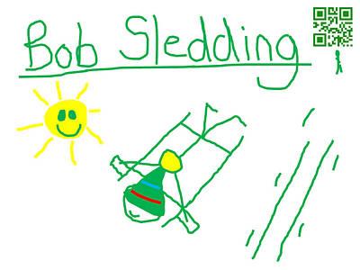Bob Sledding Art Print by Jeffrey Church