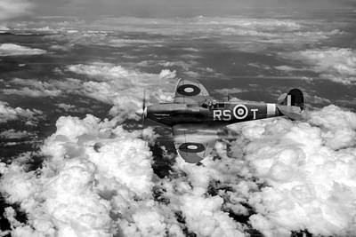 Digital Art - Bob Stanford Tuck's Spitfire Vb Black And White Version by Gary Eason