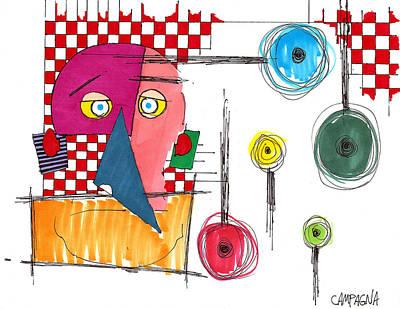 Artist Marker Drawing - BOB by Teddy Campagna