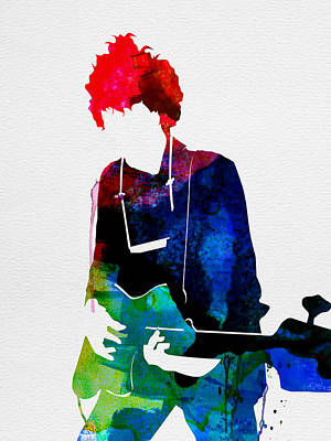 Bob Dylan Digital Art - Bob Watercolor by Naxart Studio