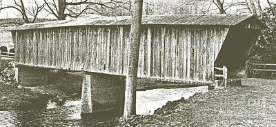 Mixed Media - Bob White Covered Bridge by Eric Liller