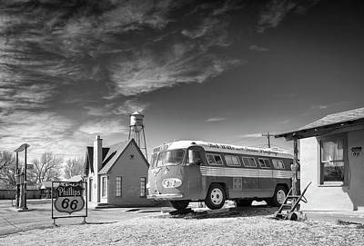 Art Print featuring the photograph Bob Wills And The Texas Playboys Tour Bus Turkey Tx by Mary Lee Dereske