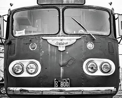 Bob Wills Tour Bus Bw Art Print