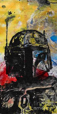 Boba Fett Fan Art Print by Edward Fielding