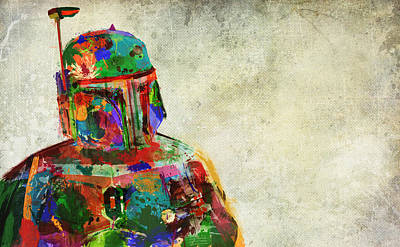 Slaves Mixed Media - Boba Fett In Colour by Mitch Boyce
