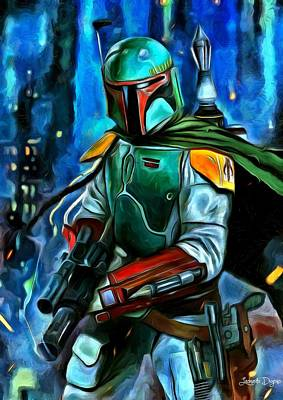 Chewbacca Painting - Boba Fett by Leonardo Digenio