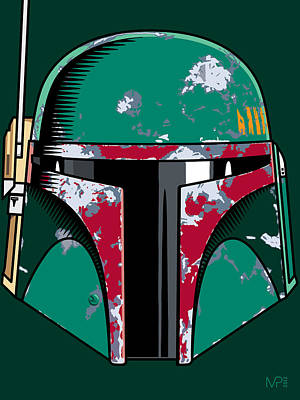 Boba Digital Art - Boba Fett by IKONOGRAPHI Art and Design