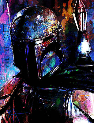 Digital Art - Boba Fett by Maria Arango