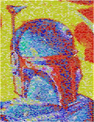 Pez Dispenser Digital Art - Boba Fett Pez Mosaic by Paul Van Scott