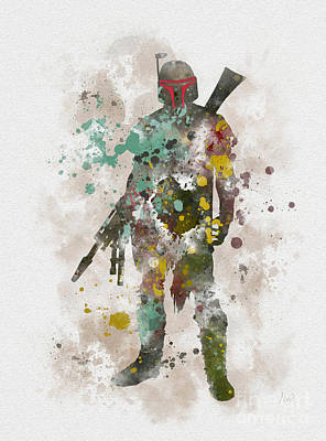 Hunters Mixed Media - Boba Fett by Rebecca Jenkins