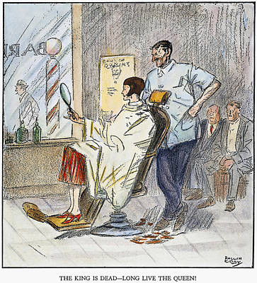 Photograph - Bobbed Hair Cartoon, 1925 by Granger