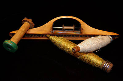 Loom Digital Art - Bobbins And Spools by Richard Ortolano