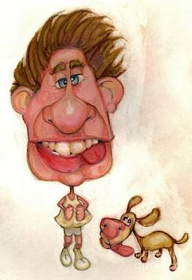 Caricature Drawing - Bobblehead No 22 by Edward Ruth