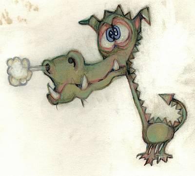 Bobblehead Drawing - Bobblehead No 23 by Edward Ruth
