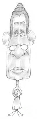 Bobblehead Drawing - Bobblehead No 25 by Edward Ruth