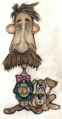 Bobblehead Drawing - Bobblehead No 31 by Edward Ruth