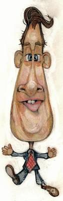 Bobblehead Drawing - Bobblehead No 32 by Edward Ruth