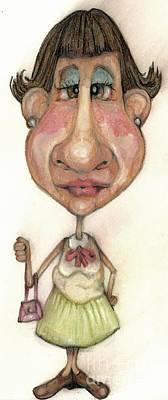Bobblehead Drawing - Bobblehead No 33 by Edward Ruth