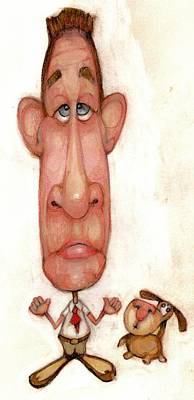 Bobblehead No 48 Art Print by Edward Ruth