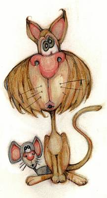 Bobblehead No 59 Art Print by Edward Ruth