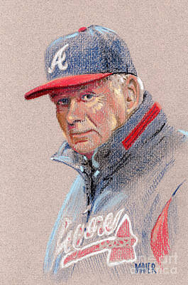 Drawing - Bobby Cox by Donald Maier