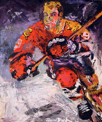 Painting - Bobby Hull by Thomas Blood