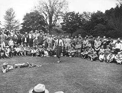 Photograph - Bobby Jones Golf Demonstration by Underwood Archives