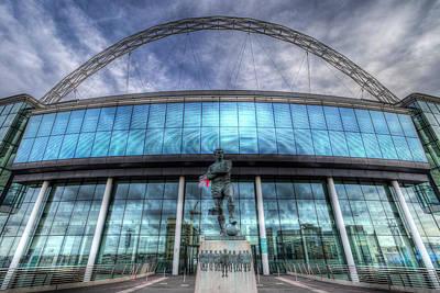 Photograph - Bobby Moore Statue Wembley Stadium London by David Pyatt