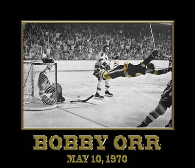 Sports Royalty-Free and Rights-Managed Images - Bobby Orr 6 by Andrew Fare