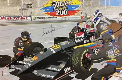 Bobby Rahal At Milwaukee Mile Print by James Smith