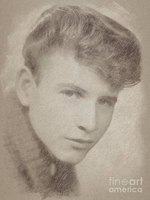 Classic Portrait Drawing - Bobby Rydell, Musician by Frank Falcon