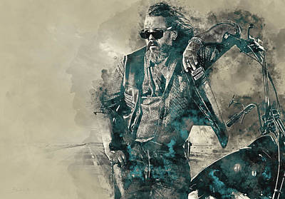 Bobby, Sons Of Anarchy Art Print by Dante Blacksmith