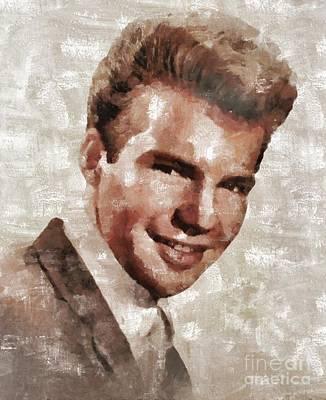 Elvis Presley Painting - Bobby Vee, Musician by Mary Bassett