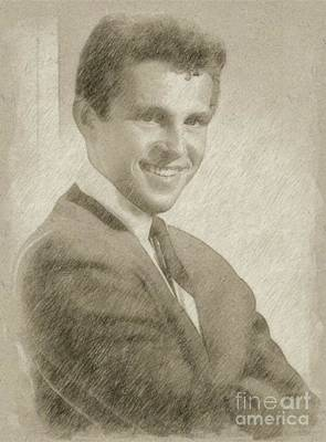 Classic Portrait Drawing - Bobby Vinton, Singer by Frank Falcon