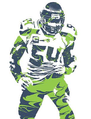 Seattle Mixed Media - Bobby Wagner Seattle Seahawks Pixel Art 1 by Joe Hamilton