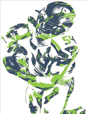 Seattle Mixed Media - Bobby Wagner Seattle Seahawks Pixel Art 2 by Joe Hamilton