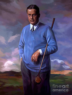 Golf Painting - Bobbyjones-openchampion1926 Reproduction by Tim Gilliland