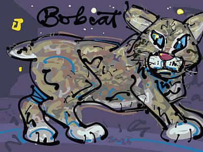 Bobcat Art Print by Brett LaGue