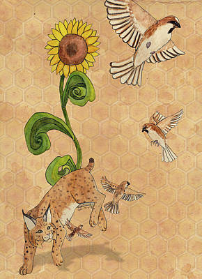 Bobcats Mixed Media - Bobcats And Beeswax by Teighlor Chaney