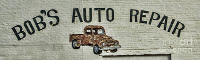 Photograph - Bob's Auto Repair by Steven Parker