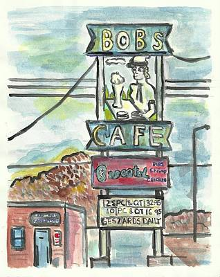 Painting - Bob's Cafe by Matt Gaudian