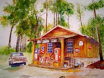 Painting - Bobs General Store by Bobby Walters