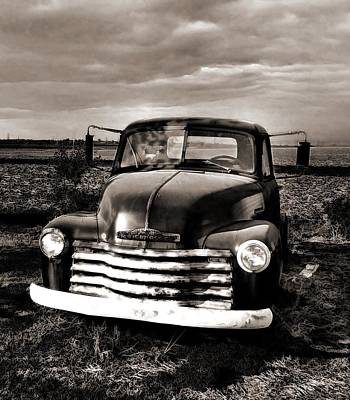Bob's Truck In B/w Art Print by Julie Dant