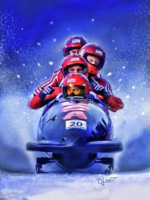 Digital Art - Bobsled by Dave Luebbert