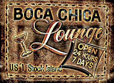Photograph - Boca Chica Lounge Stock Island Florida Keys by John Stephens